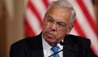 Then-Boston Mayor Thomas Menino speaks at Faneuil Hall, in this Aug. 9, 2013, file photo taken in Boston. (AP Photo/Charles Krupa, File)