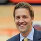 Midland University president and Republican Senate candidate Ben Sasse is pictured on campus in this photo from June 5, 2013, in Fremont, Neb. The Senate Conservatives Fund, a national conservative group, has endorsed Sasse in Nebraska's U.S. Senate race on Tuesday, Oct. 22, 2013, setting him up as the race's tea party candidate. (AP Photo/Nati Harnik)