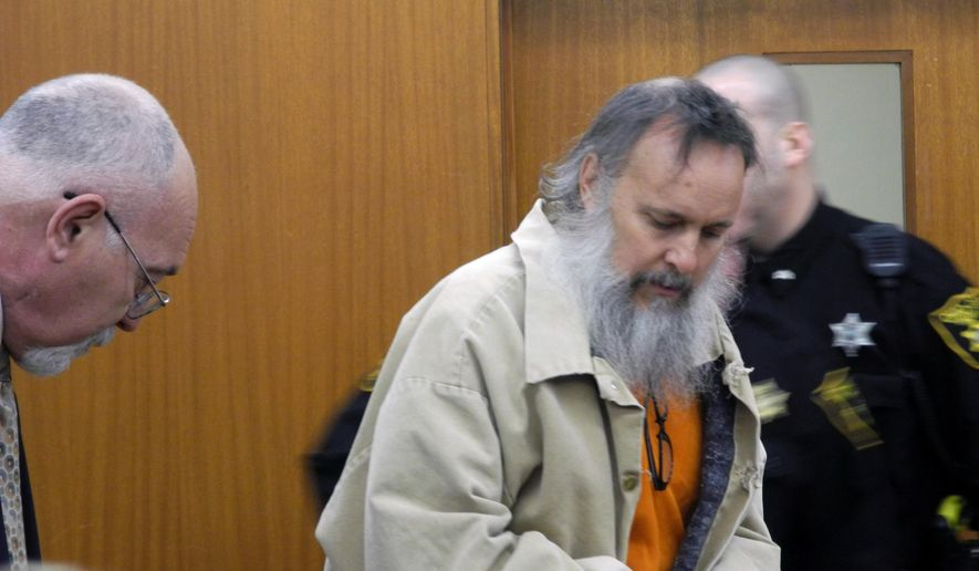 Charles Severance, center, appears in an Ohio County Circuit Court hearing on Monday, March 17, 2014, in Wheeling, W.Va., in this file photo. (AP Photo/The Intelligencer, Heather Ziegler) ** FILE **