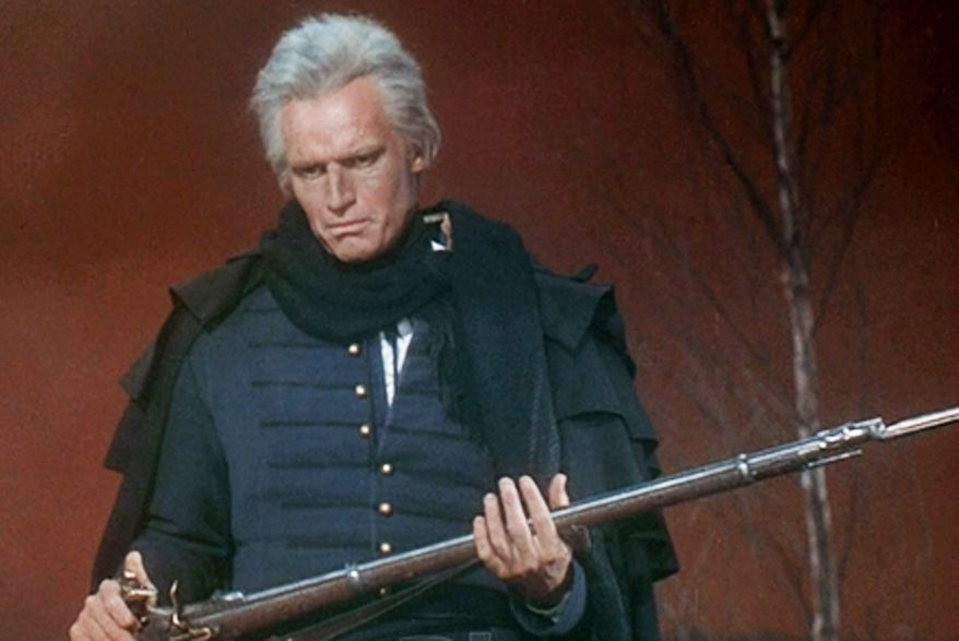 "Charlton Heston as Andrew Jackson in the 1958 film ""The Buccaneer."""