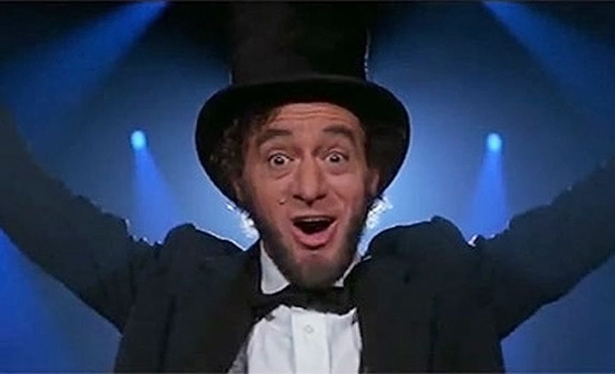 Robert V. Barron as Abe Lincoln in Bill & Ted's Excellent Adventure (1989).