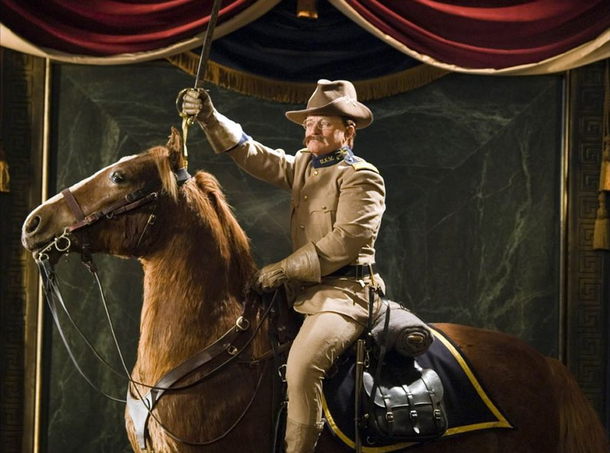 "Robin Williams as Theodore Roosevelt in ""Night at the Museum."""