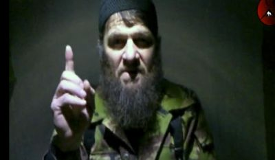 "FILE - This is a file image taken from video and released Monday, Feb. 7, 2011 by The Kavkaz Center, a website affiliated with Chechen rebels, of  insurgent leader Doku Umarov speaking in a video. An Islamic militant group in Russia's North Caucasus is reporting the death of Doku Umarov its leader, who had threatened to attack Sochi Olympics and was one of Russia's most wanted men. The Caucasus Emirate announced the ""martyrdom"" of Umarov in a statement posted Tuesday on the website of Kavkaz Center, which serves as a mouthpiece for Islamic militant groups. No cause was given. (AP Photo/The Kavkaz Center, File) NO SALES"