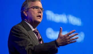 ** FILE ** This Jan. 29, 2014, file photo shows former Florida Gov. Jeb Bush speaking in Hollywood, Fla. (AP Photo/Wilfredo Lee, File)