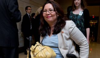 Rep. Tammy Duckworth, Illinois Democrat, will be honored by the National Women's History Project later this month. Mrs. Duckworth is know as an advocate for veterans, particularly women and Native Americans. (Associated Press)