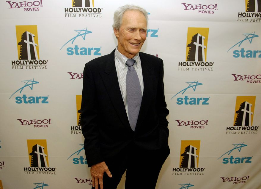 "Some in the academic realm say Clint Eastwood is on a noble quest because he ""embodies America's moral quest"" and ""search for meaning and purpose."" (Associated Press)"