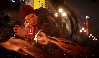 "This video game image released by Sony shows  a scene from ""inFamous: Second Son."" (AP Photo/Sony)"