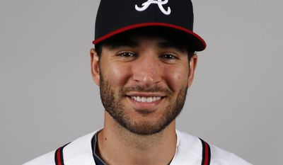FILE - This is a 2014 file photo showing pitcher Brandon Beachy of the Atlanta Braves baseball team. Beachy will have ligament-replacement surgery in his right elbow for the second time and is expected to miss the entire season. The Braves said Thursday, March 20, 2014, that Dr. Neal ElAttrache will operate on Friday in Los Angeles.  (AP Photo/Alex Brandon, File)