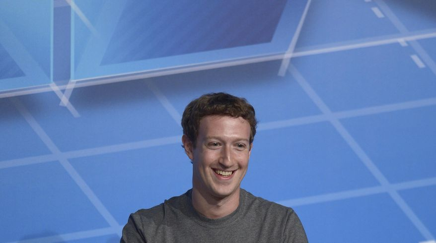 ** FILE ** This Feb. 24, 2014, file photo shows Facebook Chairman and CEO Mark Zuckerberg during a conference in Barcelona, Spain. (AP Photo/Manu Fernandez, File)