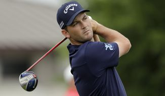 Matt Every tees off on the first hole during the final round of the Arnold Palmer Invitational golf tournament at Bay Hill, Sunday, March 23, 2014, in Orlando, Fla. (AP Photo/Chris O'Meara)