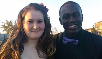 Mickayla Friend, left, and Mateus Moore were on their way to a dance when they were hit by a train. Moore was killed and Friend is listed in critical condition. (Facebook via New York Daily News)