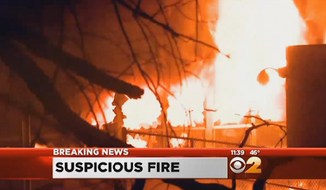 New Jersey police are investigating after a 6-alarm fire destroyed an elementary school in Edison Saturday night. (CBS 2)
