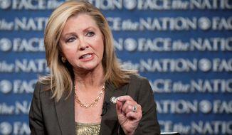 ** FILE ** Rep. Marsha Blackburn, Tennessee Republican. (Associated Press)