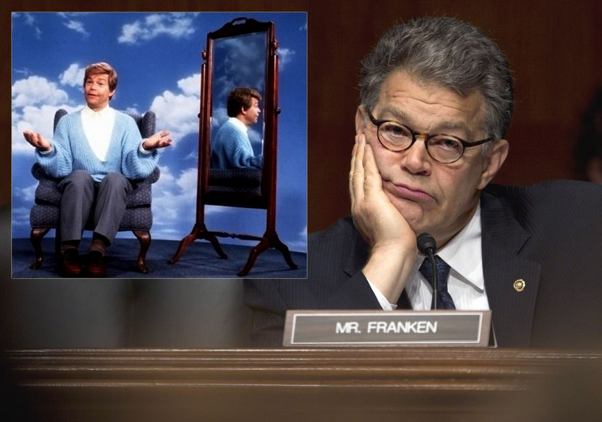 """I'm good enough, I'm smart enough, and doggone it, people like me."" Al Franken (Stuart Smalley) won by a margin of 312 votes to become a U.S. Senator from Minnesota. 