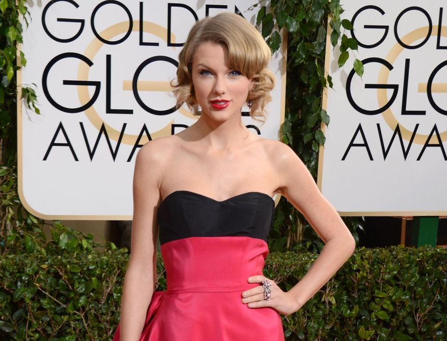 FILE - This Jan. 12, 2014 file photo shows singer Taylor Swift at the 71st annual Golden Globe Awards in Beverly Hills, Calif. A Los Angeles judge granted Swift a three-year restraining order on Tuesday March 25, 2014, against a man who according to court filings has threatened the singer's family over his belief that he is married to her. (Photo by Jordan Strauss/Invision/AP, File)