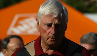 """Bob Knight harshly criticized the NBA Tuesday morning, saying that it has """"raped"""" college basketball in recruiting such young players. (Wikimedia Commons)"""