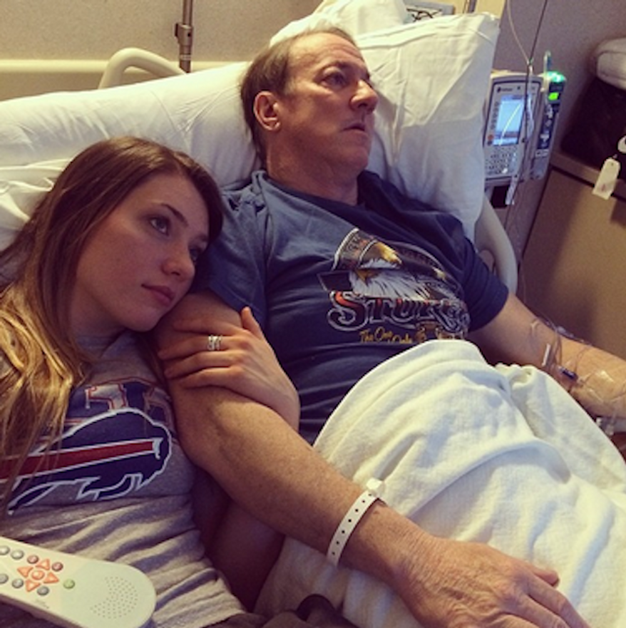 Hall of Fame quarterback Jim Kelly and his daughter, Erin. (Erin Kelly via Instagram)