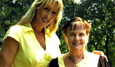 Rebecca Kiessling, a 44-year-old Michigan attorney, is shown in a photograph with her birth mother. (Courtesy of Rebecca Kiessling)