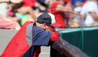 Matt Williams, first year Manager of the Washington Nationals looks on during their Grapefruit League game against the Detroit Tigers during Spring Training at Space Coast Stadium in Viera, Florida on March 20, 2014.    Photo by Gregg Newton