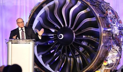 David Joyce, president and CEO of GE Aviation, speaks during a presentation Wednesday, March 26, 2014,  in West Lafayette, Ind., where the company announced plans to build a $100 million jet engine manufacturing plant in Lafayette to fill orders for its new passenger airline engine. (AP Photo/Journal & Courier, John Terhune) NO SALES