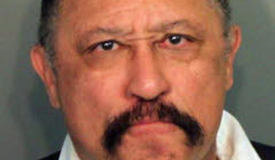 This photo provided by the Shelby County Sheriff's Office on March 24, 2014, shows Judge Joe Brown, who was arrested and charged with five counts of contempt of court in Tennessee.  Shelby County Juvenile Court officials said the 66-year-old was sentenced to five days in jail after causing an outburst Monday in a courtroom hearing. The former TV show star is running for Shelby County District Attorney General. (Associated PRess/Shelby County Sheriff's Office) **FILE**