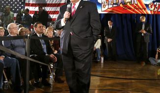 """FILE -  In a March 25, 2014 , file photo New Jersey Gov. Chris Christie talks during a town hall meeting  in Belmar, N.J.     Christie says undergoing gastric bypass surgery more than a year ago was a """"life-changing decision."""" (AP Photo/Julio Cortez, file)"""