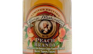 George Washington's Peach Brandy, distilled with 18th-century techniques, will go on sale next week. Only 400 bottles will be available. (Mount Vernon)