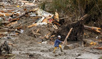 Heaven and hell: A mudslide has devastated Oso, Wash., a type of community that has become popular among retirees. (Associated Press)