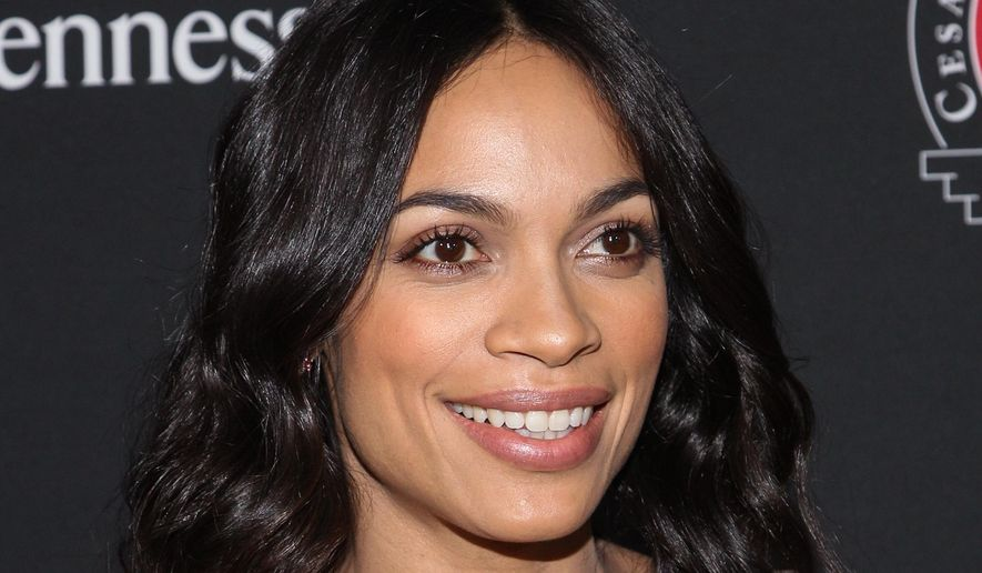"""Actress Rosario Dawson attends the premiere of Pantelion Films and Participant Media's """"Cesar Chavez"""" at TCL Chinese in Los Angeles, March 20, 2014. (Associated Press) ** FILE **"""