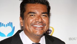 "FILE - This March 18, 2014 file photo shows George Lopez at The Norma Jean Gala 2014 at The Paley Center for Media in Beverly Hills, Calif.  Lopez stars in the new sitcom on FX called ""Saint George."" (Photo by Annie I. Bang /Invision/AP, File)"
