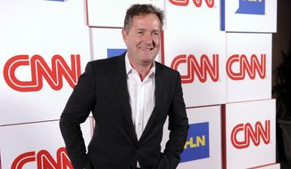 "FILE - This Jan. 10, 2014 file photo shows Piers Morgan of the CNN show ""Piers Morgan Live"" at the CNN Worldwide All-Star Party, in Pasadena, Calif. (Photo by Chris Pizzello/Invision/AP, File)"