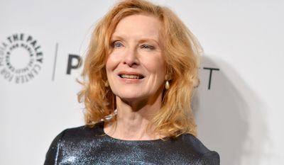 """Frances Conroy arrives at PALEYFEST 2014 - """"American Horror Story: Coven"""" at the Kodak Theatre on Friday, March 28, 2014, in Los Angeles. (Photo by Richard Shotwell/Invision/AP)"""