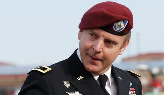 "In pressure cooker: In the case of Army Brig. Gen. Jeffrey Sinclair, charged with ethics violations and sexual assault in Afghanistan, the military judge said ""unlawful command influence"" tainted the prosecution. (Associated Press)"