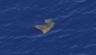 An object floats in the southern Indian Ocean in this picture taken from a Royal New Zealand Air Force P-3K2 Orion aircraft searching for missing Malaysia Airlines Flight 370, Saturday, March 29, 2014. A warship with an aircraft black box detector was set to depart Australia on Sunday to join the search for the missing Malaysian jetliner, a day after ships plucked objects from the Indian Ocean to determine whether they were related to the missing plane. None were confirmed to be from the plane, leaving searchers with no sign of the jet more than three weeks after it disappeared. (AP Photo/Jason Reed, Pool)