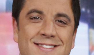"""File-This Feb. 20, 2013 file photo released by ABC shows  Josh Elliott,  on the set of """"Good Morning America"""" in New York.  ABC's top-rated """"Good Morning America"""" has suffered its second personnel defection in four months, with news anchor  Elliott telling the network on Sunday March 30, 2014,  that he's leaving for a job at NBC Sports. (AP Photo/ABC, Heidi Gutman, File)"""
