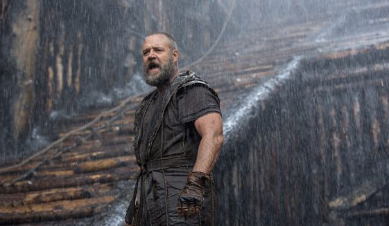 """""""Noah,"""" starring Russell Crowe, was supposed to be Hollywood's chance to prove it could pay fealty to biblical material while grabbing a larger audience, but most Christian news outlets called the film a missed opportunity. (Associated Press/File)"""