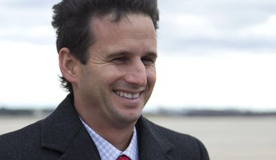 FILE - This Dec. 27, 2012 file photo shows Sen. Brian Schatz, D-Hawaii at Andrews Air Force Base, Md. President Barack Obama is endorsing Schatz in his primary race against Hawaii Rep. Colleen Hanabusa. That's according to a Democratic National Committee official, who spoke on condition of anonymity because the person was not authorized to speak publicly about it before Obama's announcement. .(AP Photo/Carolyn Kaster, File)