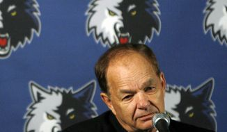 FILE - In this May 22, 2009, file photo, Minnesota Timberwolves owner and printing magnate Glen Taylor addresses the media during a news conference Minneapolis. Publisher Michael Klingensmith announced Tuesday, April 1, 2014 that Taylor has signed a letter of intent to buy the Minneapolis Star Tribune. Taylor told the Star Tribune he has made a cash offer without any other investors but declined to say how much. (AP Photo/The Star Tribune, Jim Gehrz, File)