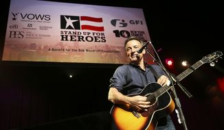 """FILE - In this Nov. 6, 2013 file photo, musician Bruce Springsteen performs at the Stand Up for Heroes event at Madison Square Garden, in New York. Bruce Springsteen, Stevie Nicks, Carrie Underwood, Chris Martin: The stars are turning out to salute the 2014 Rock and Roll Hall of Fame inductees. The hall of fame says Tuesday, April 1, 2014, that """"The Boss"""" will fittingly induct and perform with his loyal E Street Band, while a superstar lineup of Nicks, Underwood, Bonnie Raitt, Emmylou Harris and Sheryl Crow will perform for Linda Ronstadt. (John Minchillo/Invision/AP, file)"""