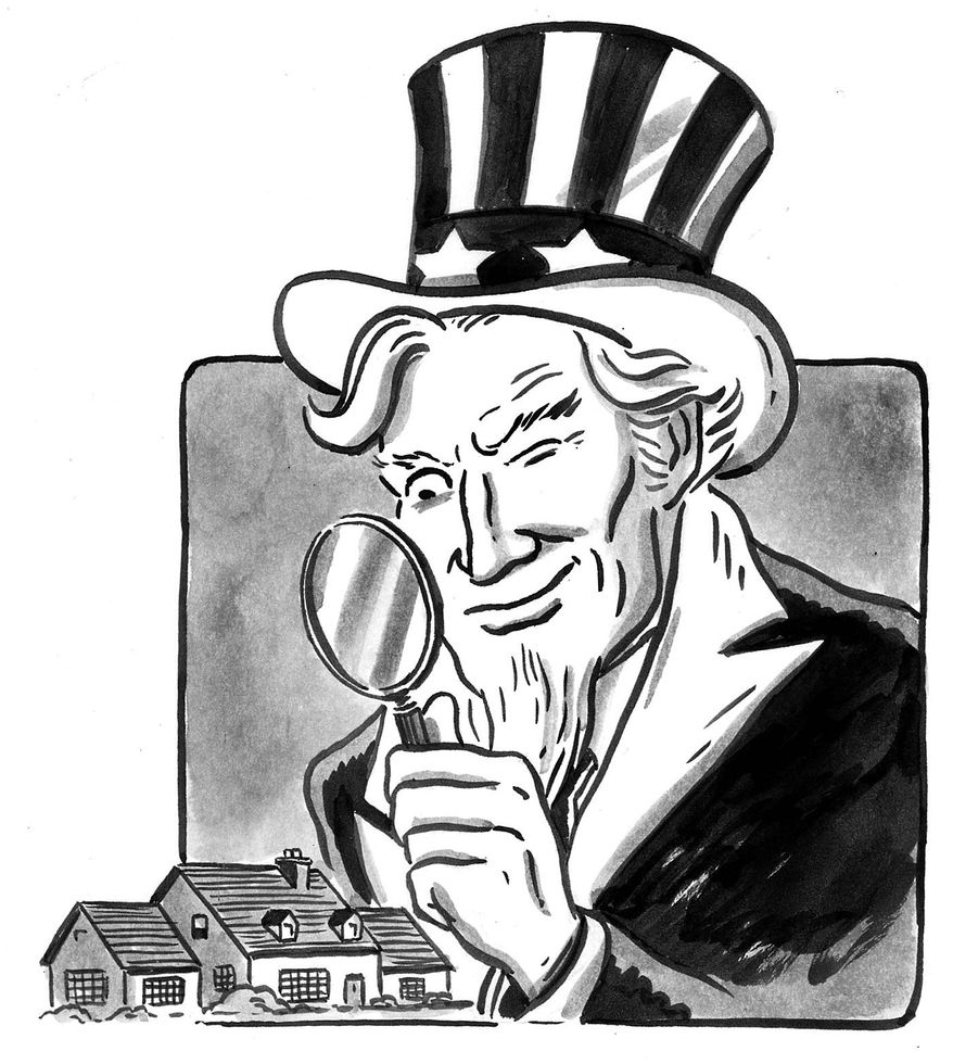 Illustration on domestic spying by Mark Weber/Tribune Content Agency