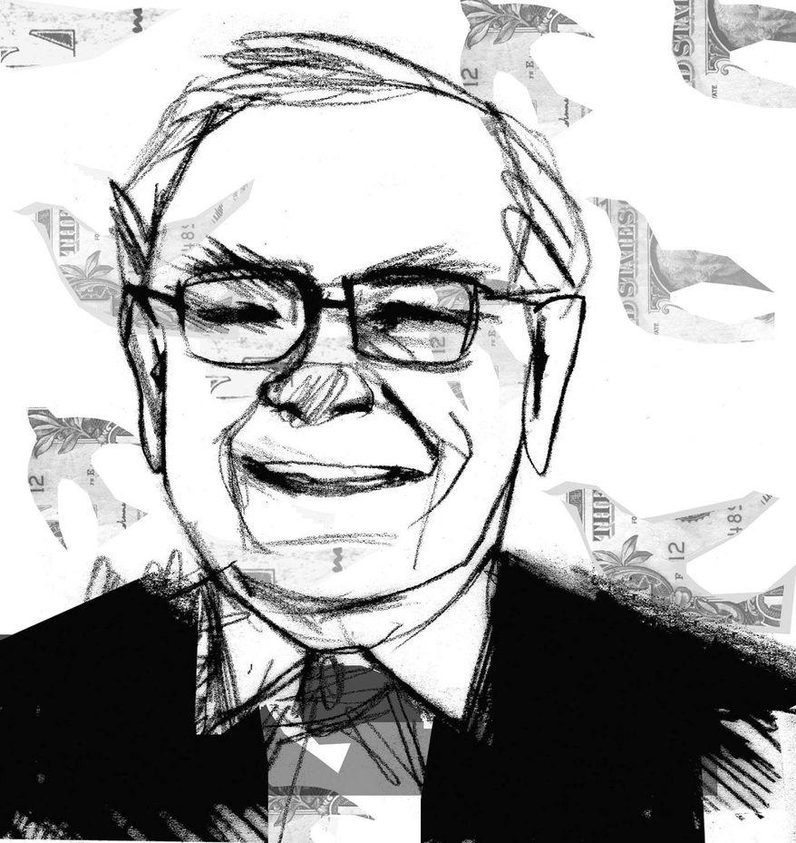 Illustration of Warren Buffet by Donna Grethen/Tribune Content Agency