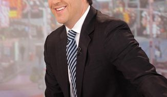 """FILE - This Aug. 30, 2012 file image released by ABC shows former """"Good Morning America"""" co-host Josh Elliott on the popular morning show in New York. Elliott says his decision to leave ABC's """"Good Morning America"""" for NBC is a """"deeply personal"""" move to get back to sports. NBC Sports on Wednesday, April 2, 2014, officially introduced him as a new hire to work on future Olympics, NFL football and other events. He turned down an offer to remain at ABC's top-rated morning show, where he was a key player in its rise past the """"Today"""" show. Elliott said he's discussed no role at NBC News, including at """"Today."""" He said the fallout from his defection from ABC has been painful. (AP Photo/ABC, Fred Lee, File)"""