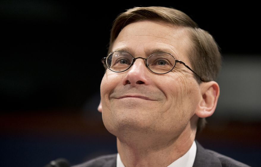 Former CIA Deputy Director Michael Morrell, testifies before the House Permanent Select Committee on Intelligence on Capitol Hill in Washington, Wednesday, April 2, 2014, about the terrorist attacks on U.S. facilities in Benghazi. (AP Photo/Manuel Balce Ceneta) ** FILE **