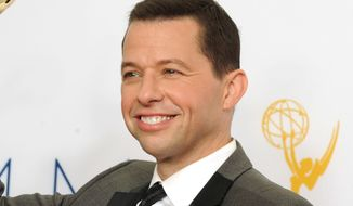 """FILE - This Sept. 23, 2012 file photo shows actor Jon Cryer, backstage at the 64th Primetime Emmy Awards in Los Angeles. Cryer, an actor who knows a thing or two about Charlie Sheen and Demi Moore among others, is working on a """"candid"""" memoir. The Emmy-winning star of """"Two and a Half Men"""" has a deal with New American Library, an imprint of Penguin Random House. The publisher announced Wednesday that the book, currently untitled, is scheduled for next spring. (Photo by Jordan Strauss/Invision/AP, File)"""