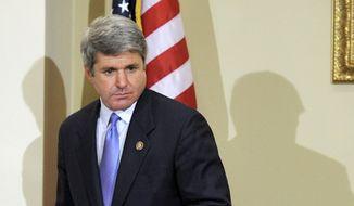 ** FILE ** Texas Rep. Mike McCaul. (Associated Press)