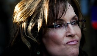 **FILE** Former Alaska Gov. Sarah Palin (Associated Press/Naples Daily News, Scott McIntyre)