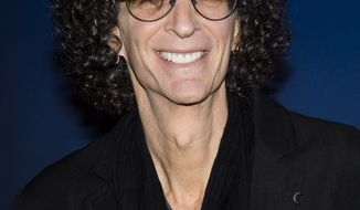 "Howard Stern arrives for an ""America's Got Talent"" taping at Madison Square Garden on Friday, April 4, 2014, in New York. (Photo by Charles Sykes/Invision/AP)"