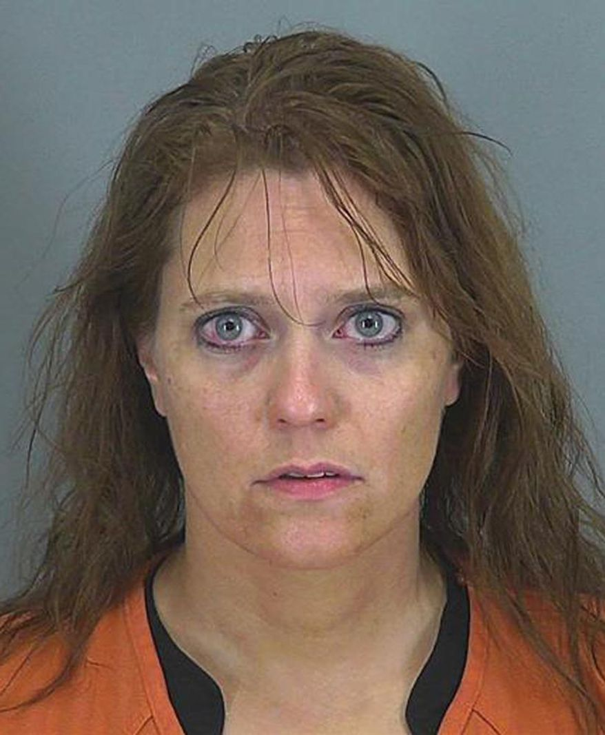This undated photo provided by the Spartanburg County Prosecutor's office shows Stephanie Greene. Greene, 39, faces 20 years to life in prison when she is sentenced for killing her 6-week-old daughter with what prosecutors say was an overdose of morphine delivered through her breast milk. (AP Photo/Spartanburg County Prosecutor's office)