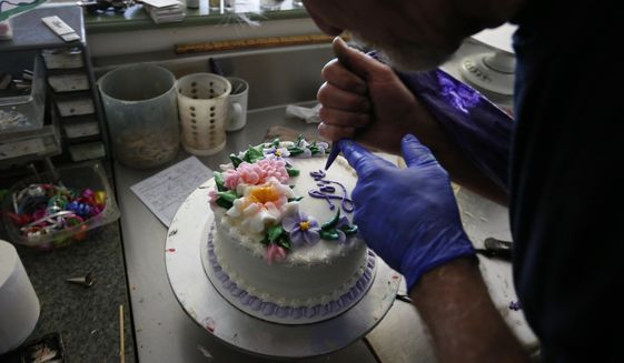 "Masterpiece Cakeshop baker Jack Phillips is again at the center of a civil rights fight after refusing to bake a cake for a same-sex wedding. Chris Sevier says Mr. Phillips must be compelled to make cakes for him and his computer ""bride."" (Associated Press/File)"