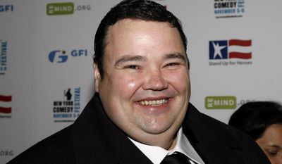 """FILE - In this Wednesday, Nov 5, 2008, file photo, John Pinette arrives to the 2nd annual Stand Up For Heroes: A Benefit for the Bob Woodruff Foundation in New York. Pinette, the stand-up comedian who portrayed a hapless carjacking victim in the final episode of """"Seinfeld,"""" has died. He was 50. Pinette died of natural causes Saturday, April 5, 2014, at a hotel in Pittsburgh, the Allegheny County Medical Examiner's office said Sunday evening. Pinette's agent confirmed his death. (AP Photo/Stuart Ramson, File)"""